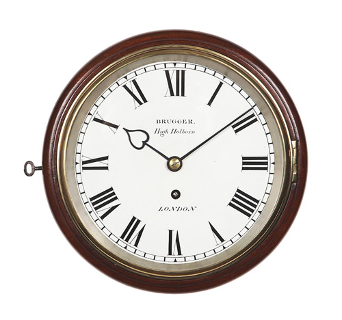 8 inch Fusee Dial Clock by Brugger