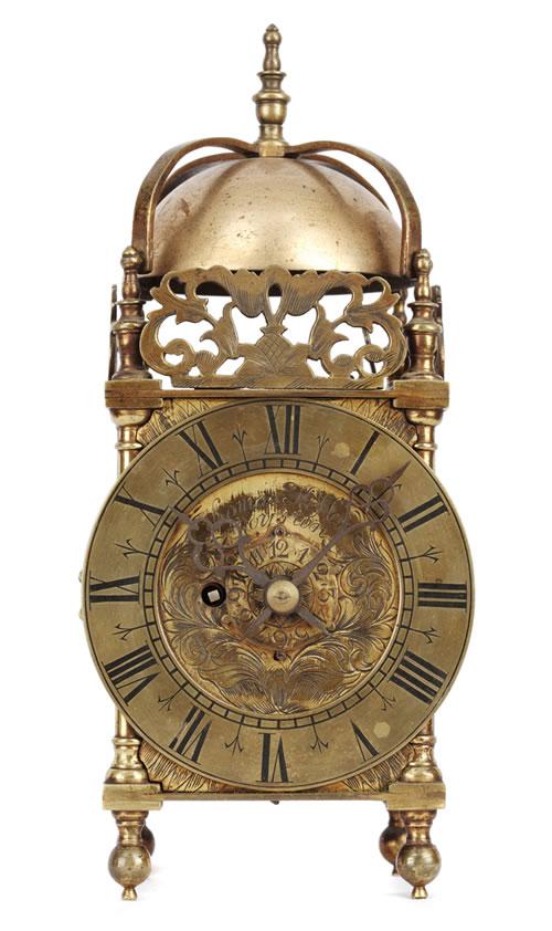 Miniature Fusee Lantern Clock