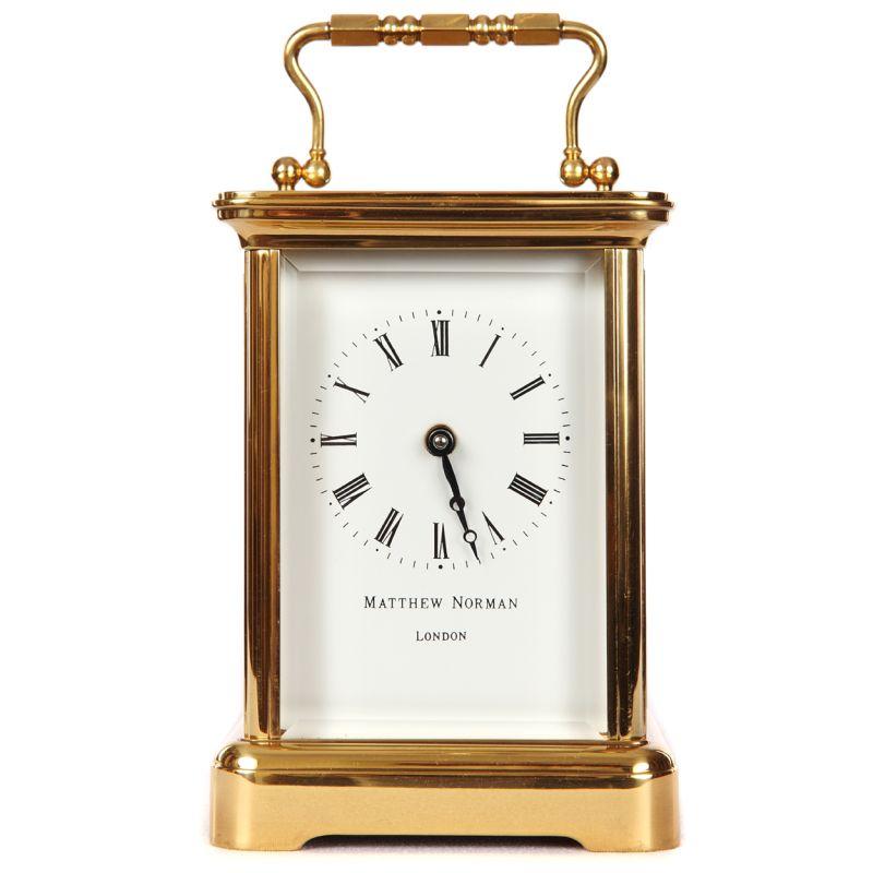 English Matthew Norman Carriage Clock - The Clock Work Shop - Dorset