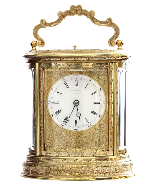 Drocourt-Strike-Repeat-Oval-Carriage-Clock
