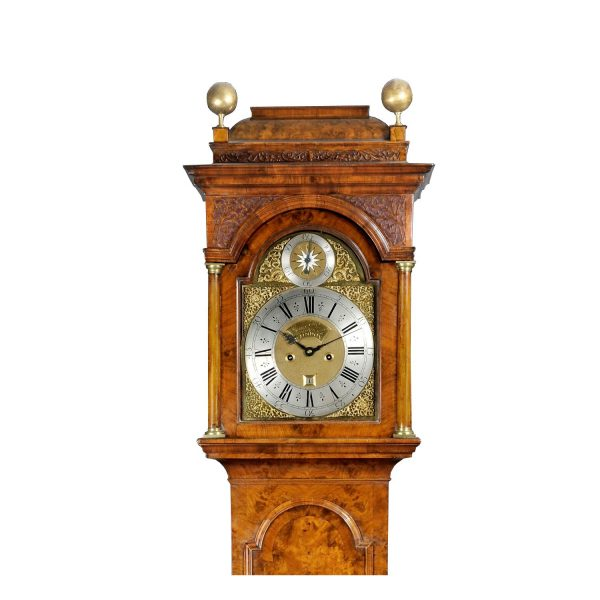 James-Drury-london-longcase-clock-hood