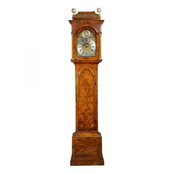 James-Drury-london-longcase-clock-trunk