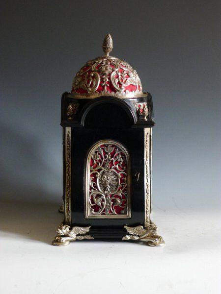 Silver Mounted Baldock Bracket Clock Side