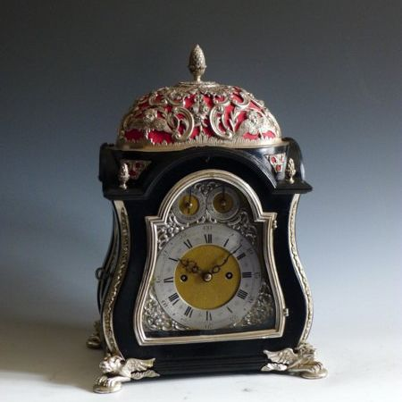 Silver Mounted Baldock Bracket Clock