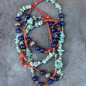 lapis-lazuli-turquoise-coral-silver-necklace