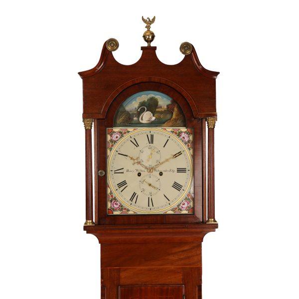henry-wilkes-rocking-swan-longcase-clock-hood
