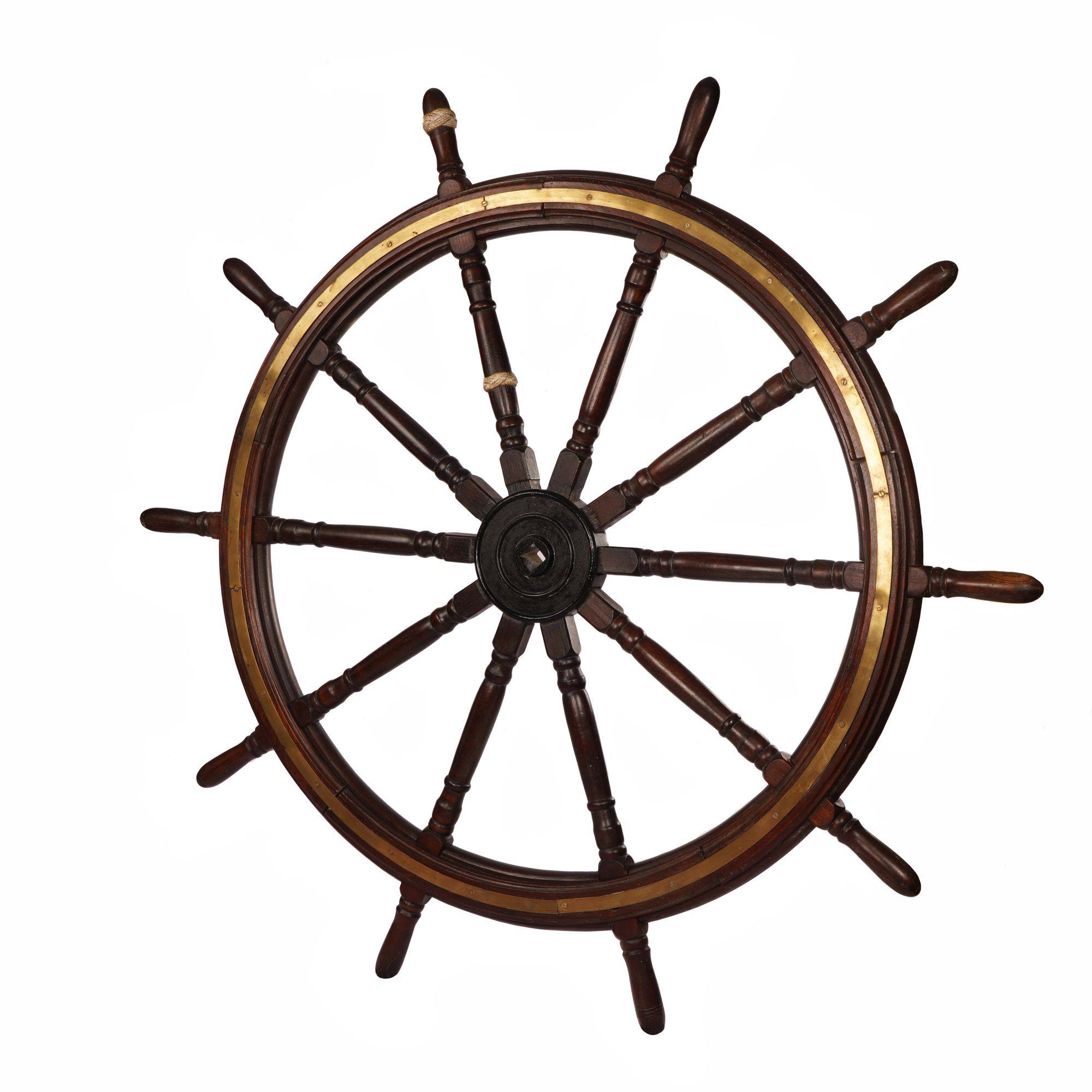 A Fine Original 10 Spoke Ships Wheel Of High Quality