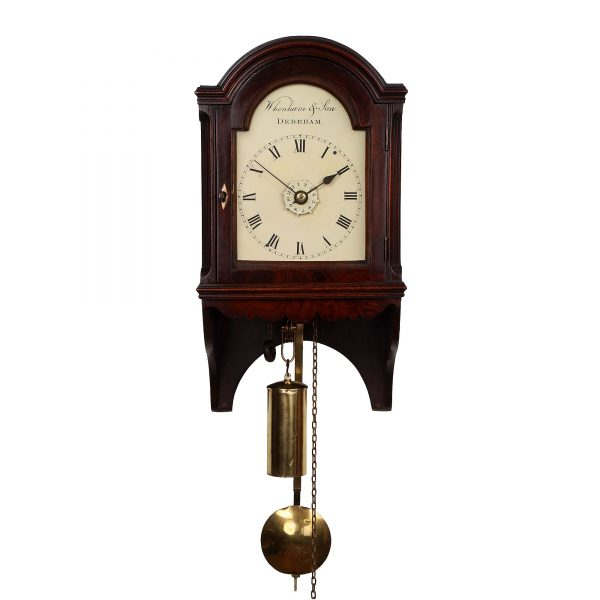 hooded wall clock by Whenham and Son of Dereham