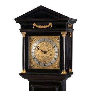 edward-stanton-architectural-longcase-clock-hood-3