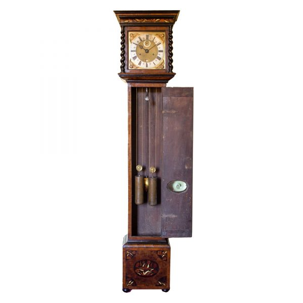 joseph-knibb-olivewood-longcase-clock-open