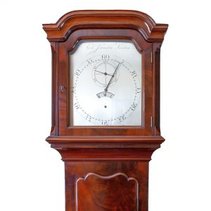 archibald-johnston-mahogany-longcase-regulator-clock-hood