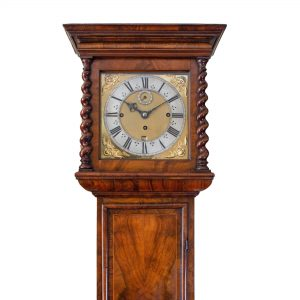 walnut-musical-longcase-clock-thomas-tompion-hood