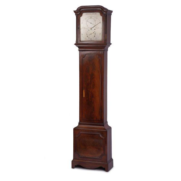 wyatt-exeter-rare-mahogany-regulator-longcase-clock-1