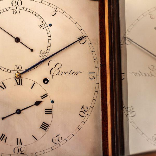 wyatt-exeter-rare-mahogany-regulator-longcase-clock-dial-2