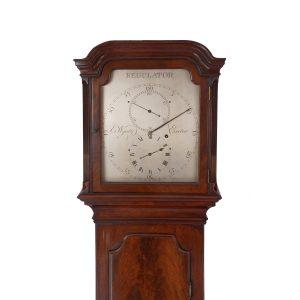 wyatt-exeter-rare-mahogany-regulator-longcase-clock-hood-1.jpg