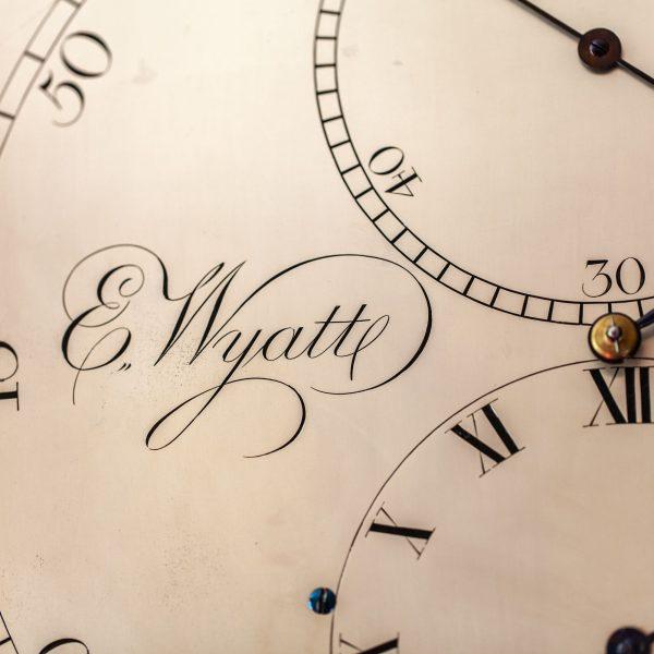wyatt-exeter-rare-mahogany-regulator-longcase-clock-signed