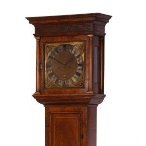 joseph-knibb-walnut-longcase-clock-hood-angled