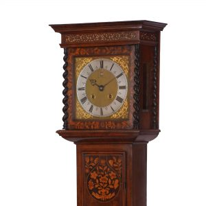 month-marquetry-longcase-clock-jonathan-lowndes-london-hood-side