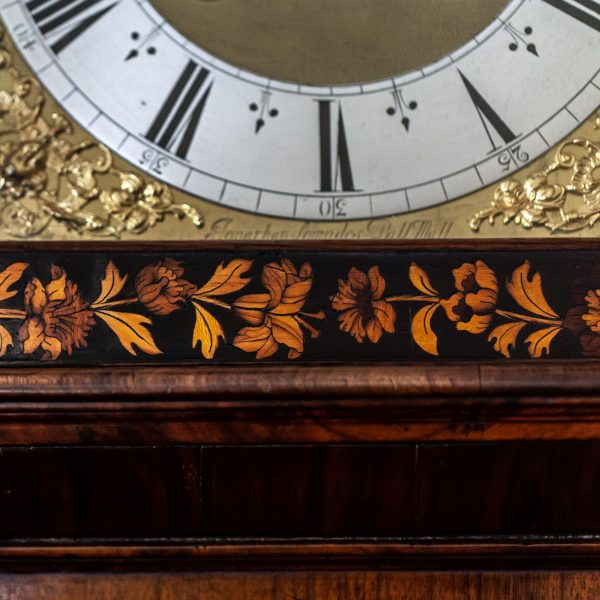 month-marquetry-longcase-clock-jonathan-lowndes-london-name