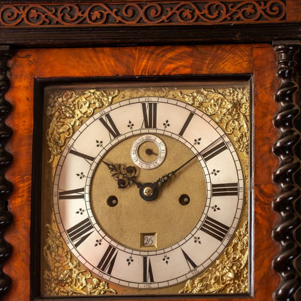 thomas-george-marquetry-longcase-clock-dial