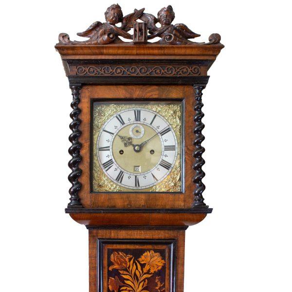 thomas-george-marquetry-longcase-clock-hood
