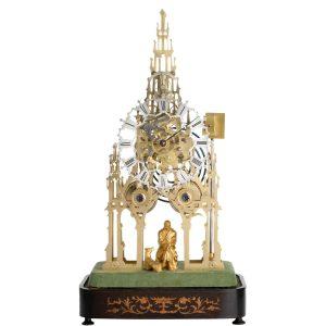 (Striking) Skeleton Clock, Walter Scott, Edinburgh