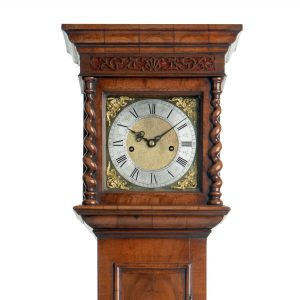 Minature Longcase Clock, Unsigned, Hood